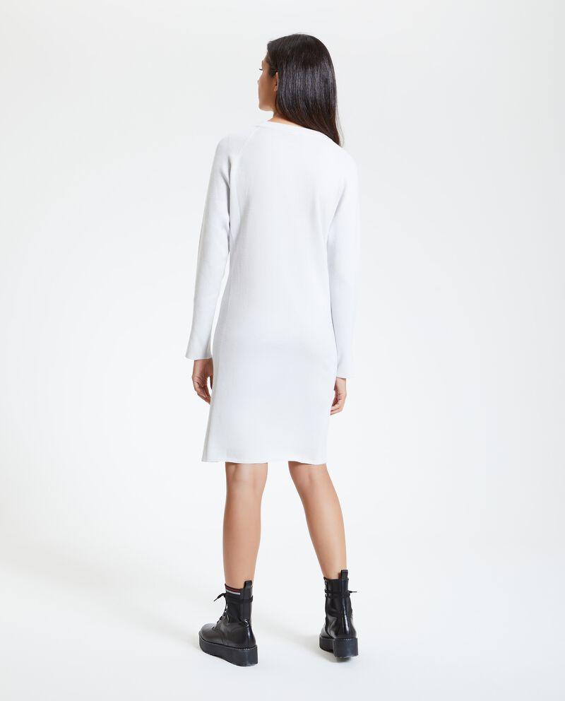 Vestito tinta unita tricot donna