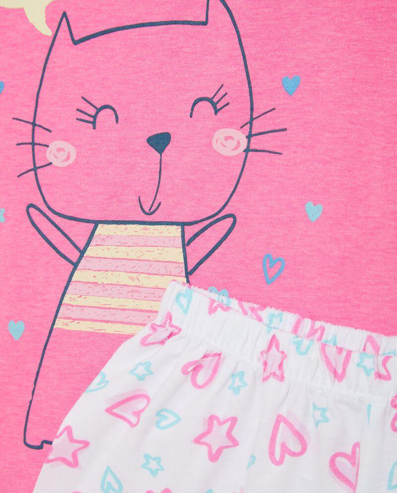 Bipack pigiami t-shirt e shorts in puro cotone bambina