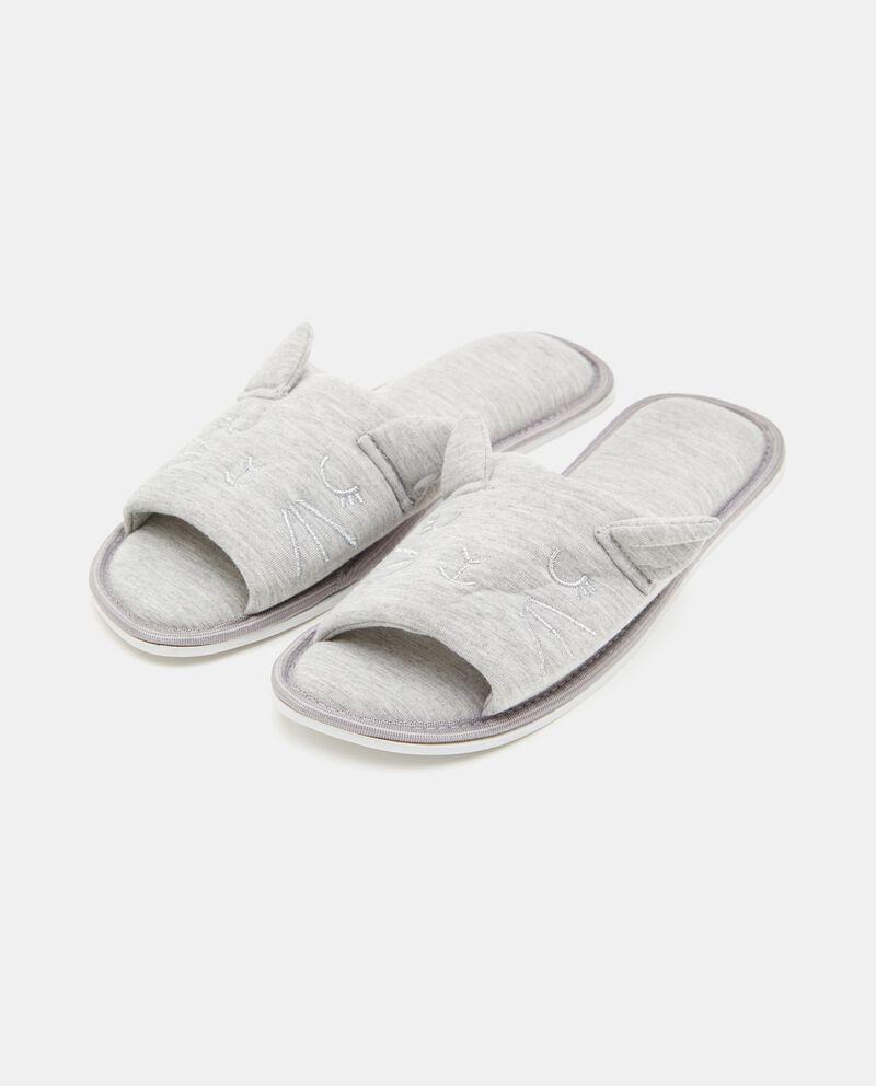 Pantofole con disegno gatto donna