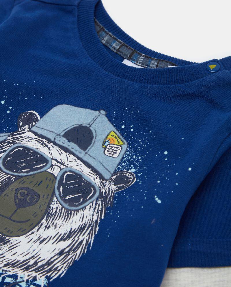 T-shirt con maniche a contrasto neonato