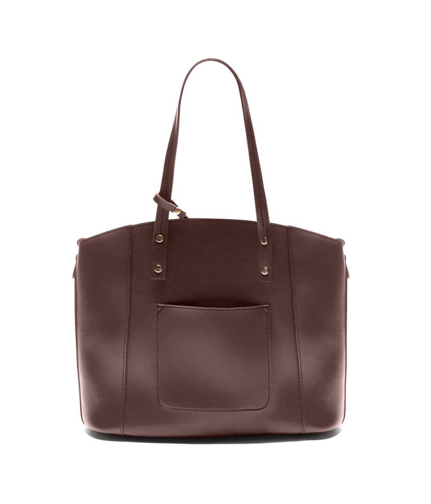 Shopping bag tinta unita similpelle