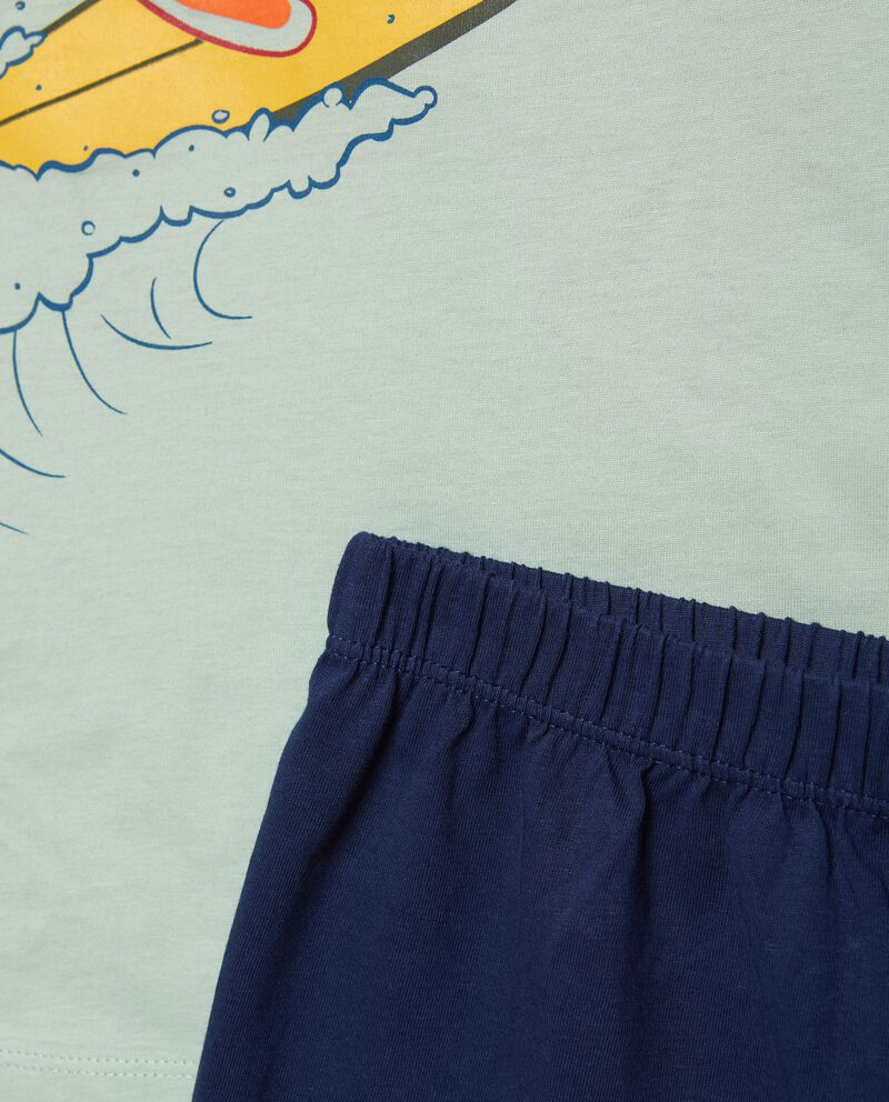 Set pigiama con t-shirt e shorts puro cotone bambinodouble bordered 1