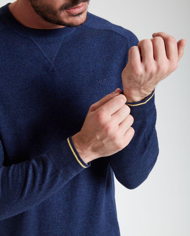 Pullover girocollo puro cotone uomo