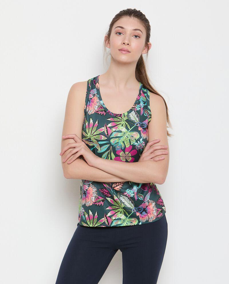 Canotta Fitness stampata donna