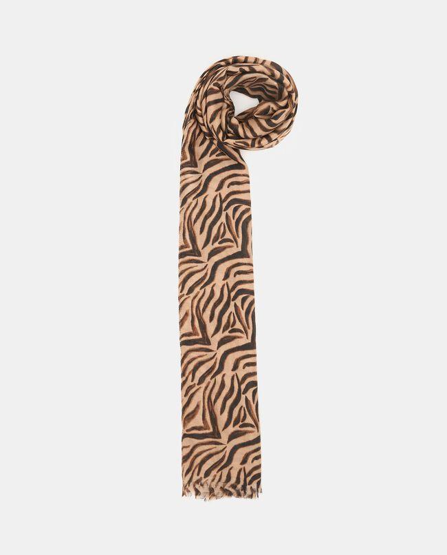 Sciarpa con stampa animalier zebrata donna carousel 0