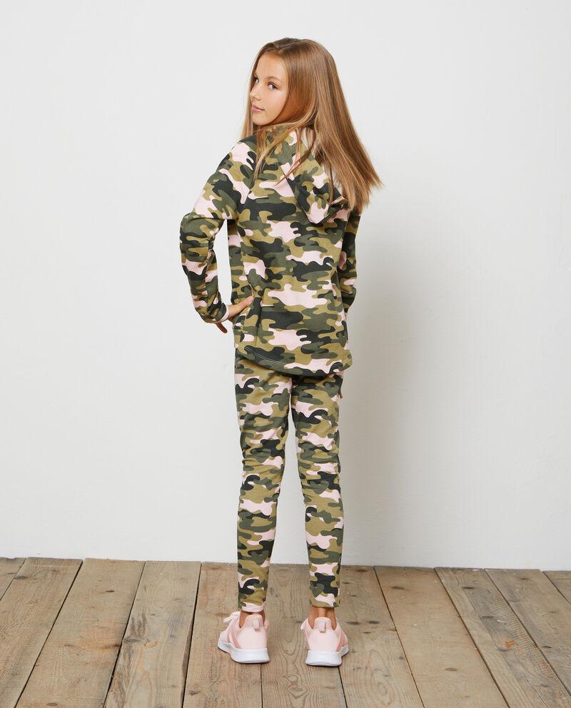 Felpa puro cotone fantasia camouflage