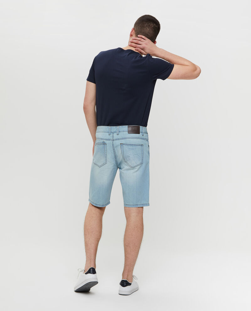 Shorts in denim effetto used