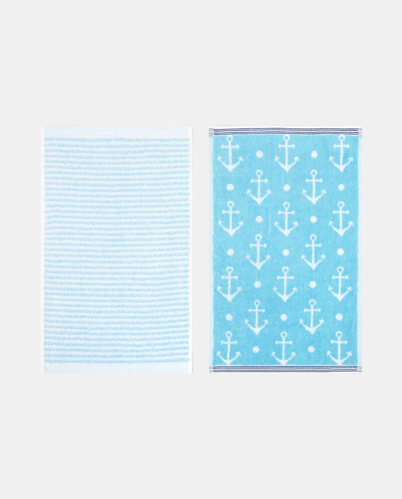 Set due asciugamani con decori