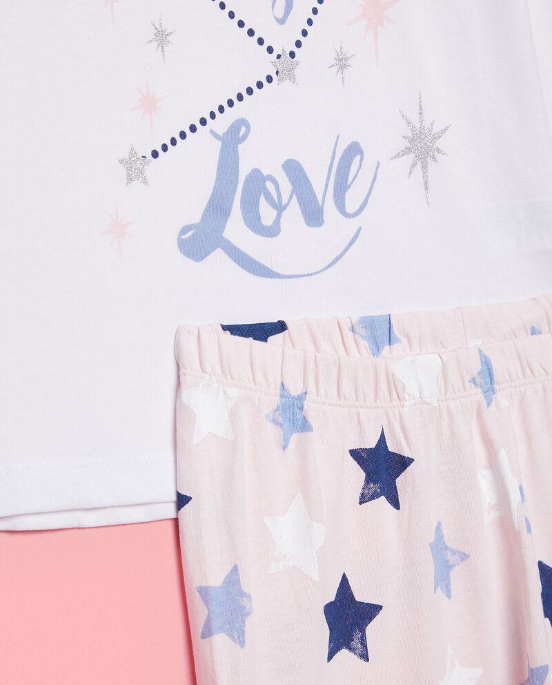 Set pigiama con maglia e pantaloni in puro cotone biologico bambina