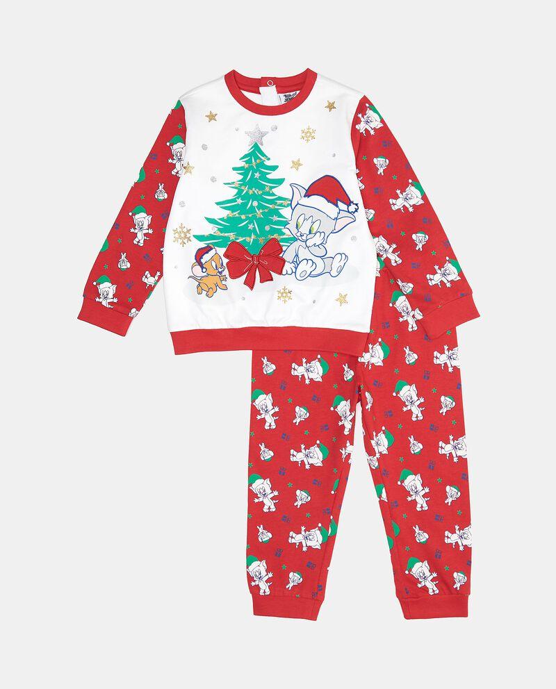 Set pigiama natalizio in puro cotone neonato