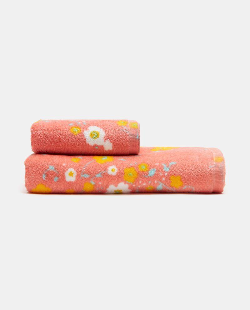Set di 2 asciugamani con stampa floreale in puro cotone