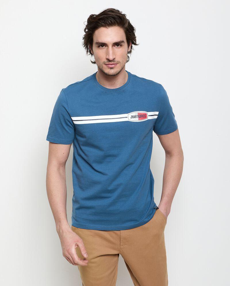 T-shirt con stampa in puro cotone uomo