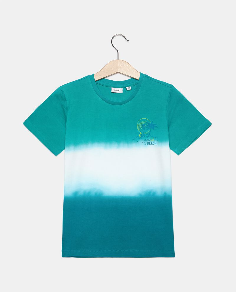 T-shirt stampa tie and dye in cotone organico bambino