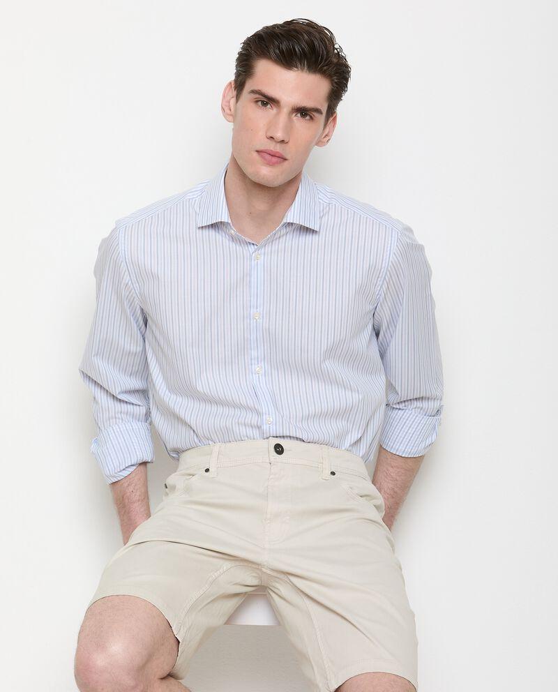 Camicia a righe di puro cotone uomo cover