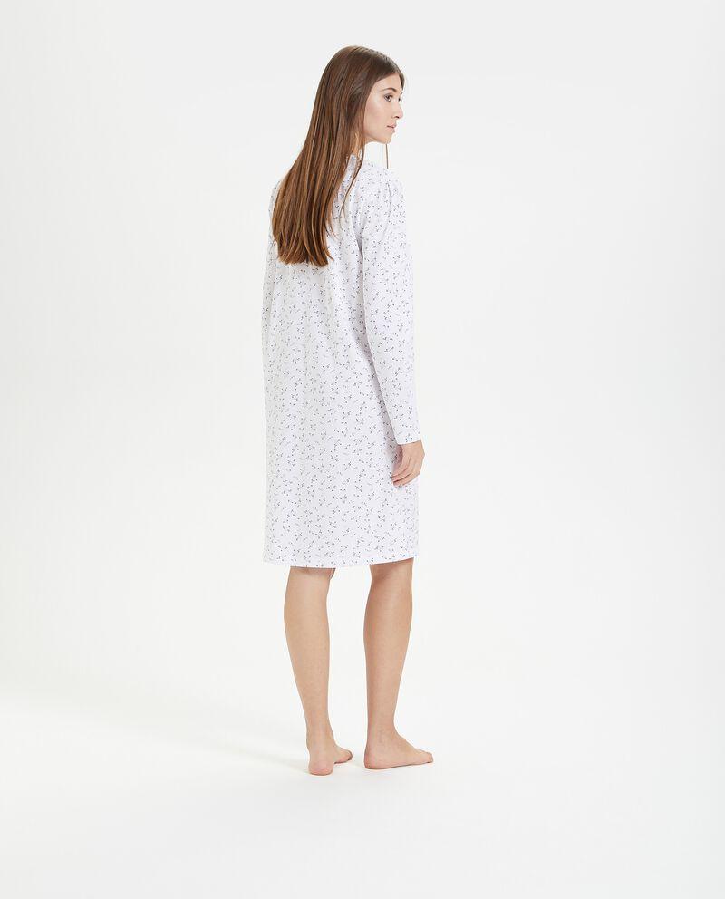 Camicia da notte in fantasia floreale di puro cotone