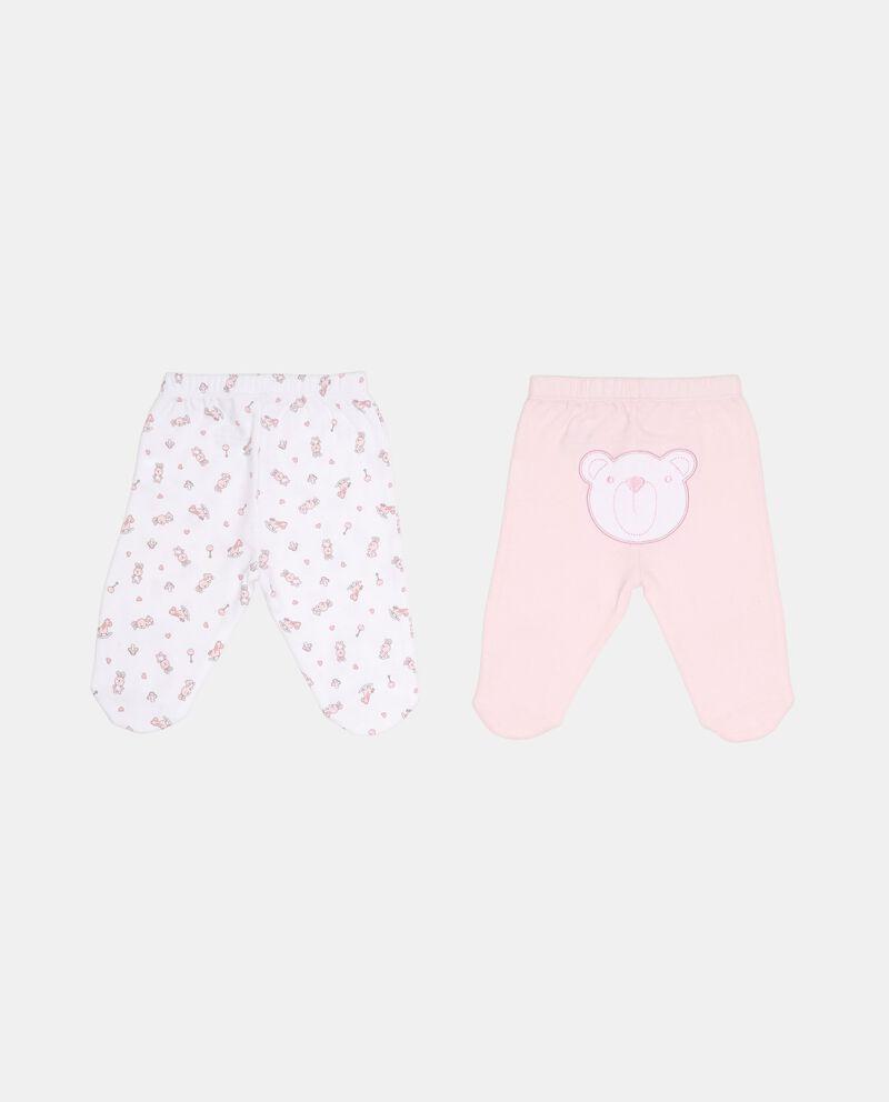 Set due paia di pantaloni con piedini