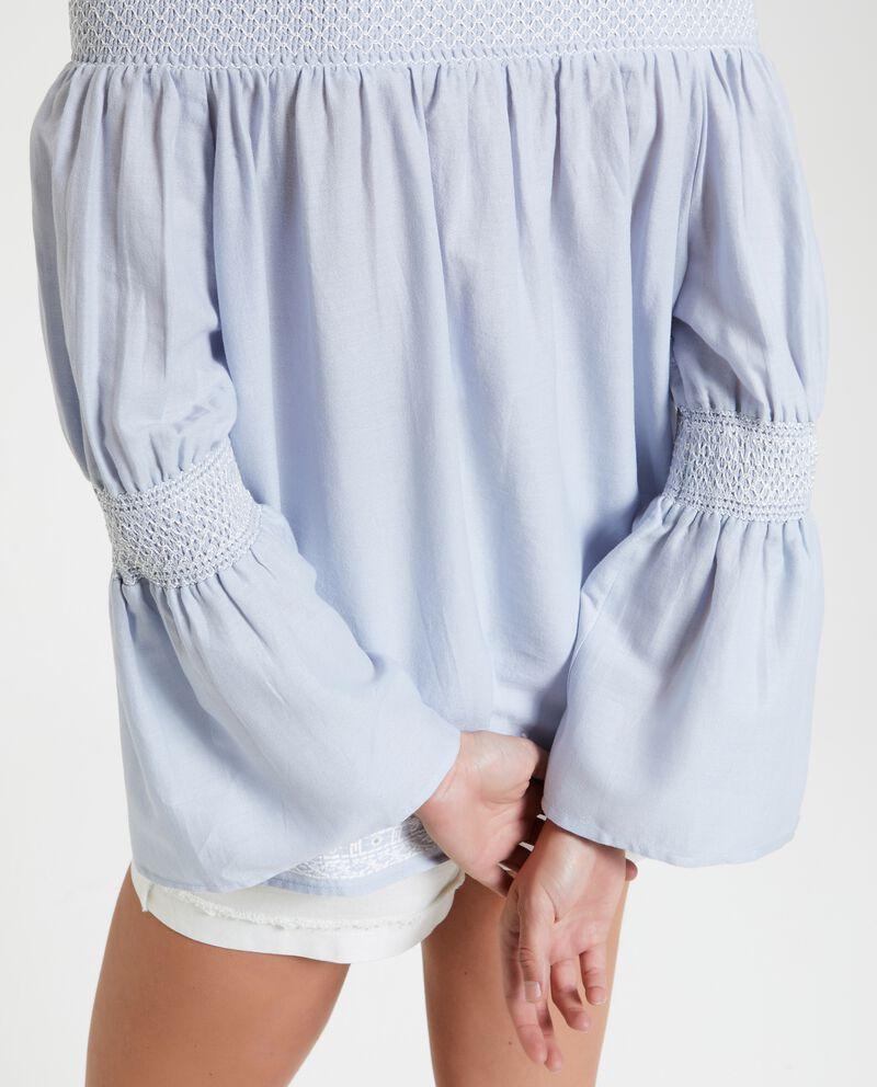 Camicia con spalle scoperte e maniche ampie donna