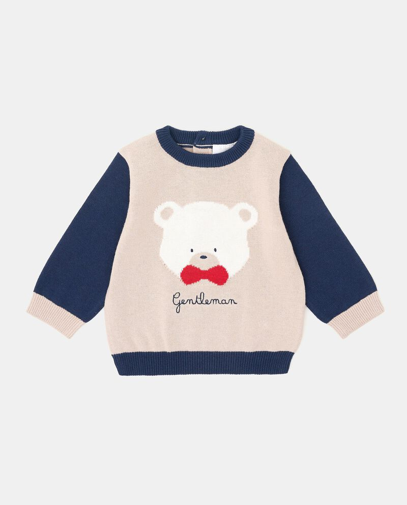 Girocollo tricot con ricamo neonato cover