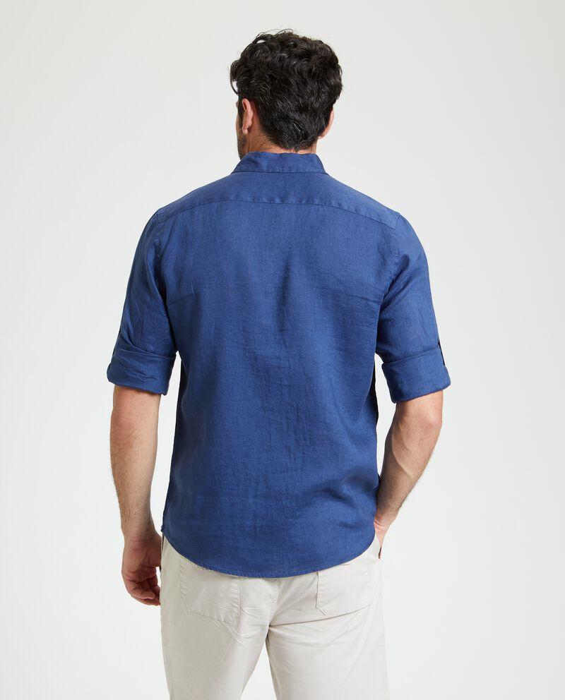 Camicia in puro lino con tasche uomo