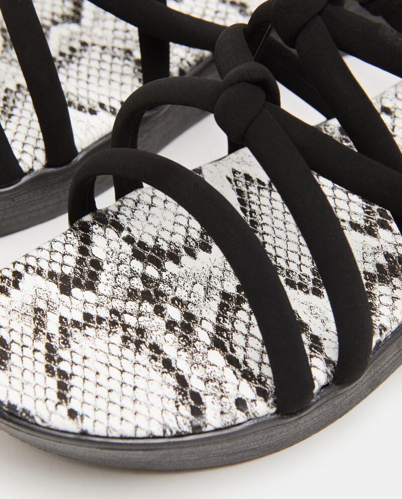 Sandali incrociati animalier donna