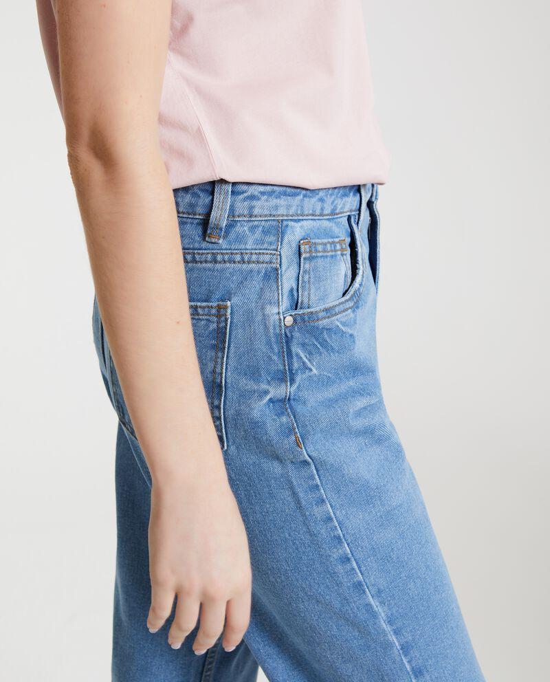 Jeans mom fit in puro cotone