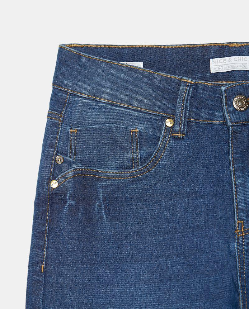 Jeans slim fit in cotone elasticizzato donnadouble bordered 1