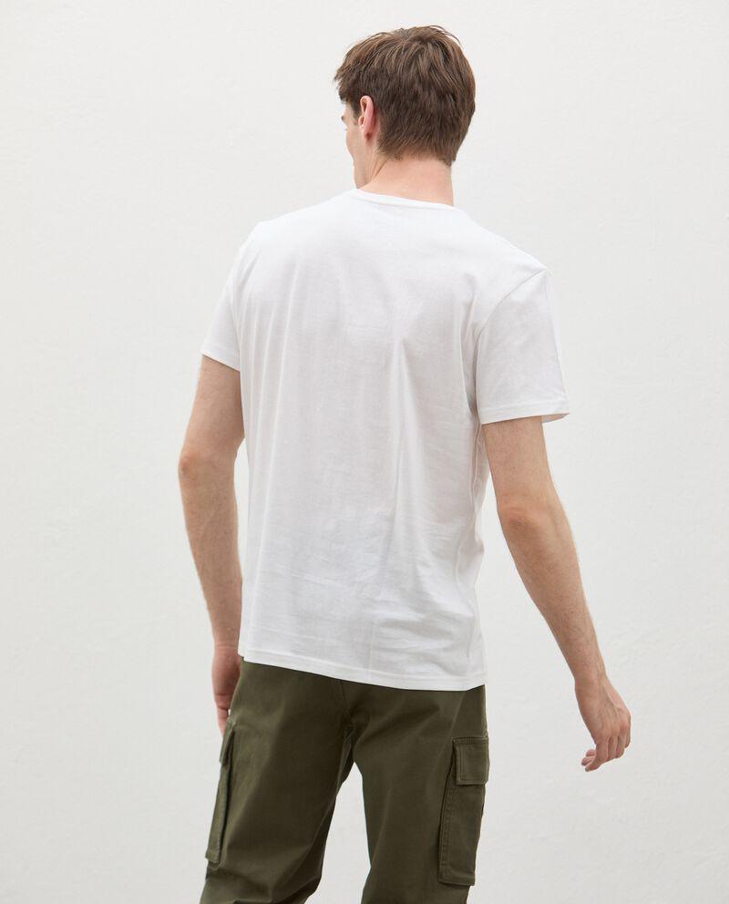 T-shirt in cotone organico con stampa fotografica uomo single tile 1