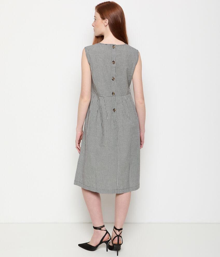 Vestito in puro cotone a quadri donna double 2