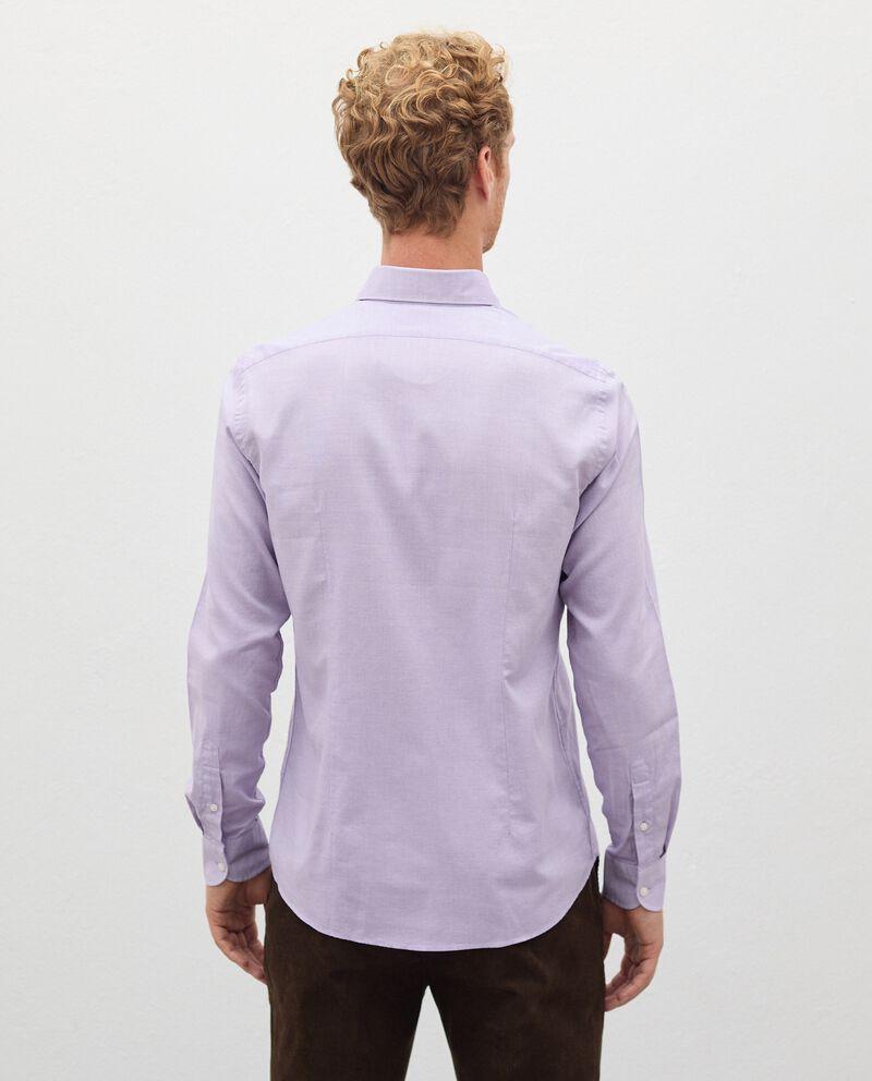 Camicia di puro cotone in micro fantasia uomo single tile 1