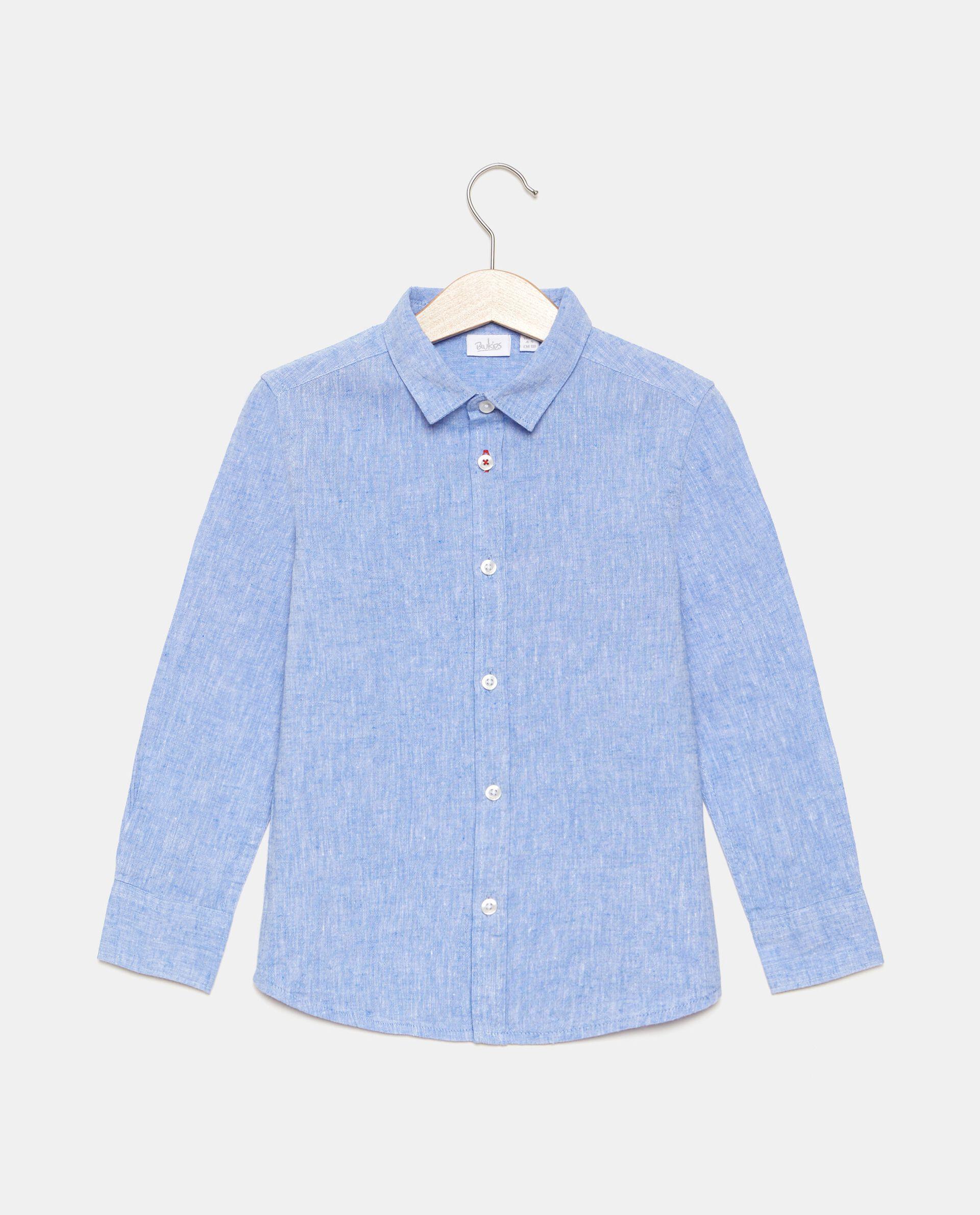 Camicia in cotone misto lino bambino