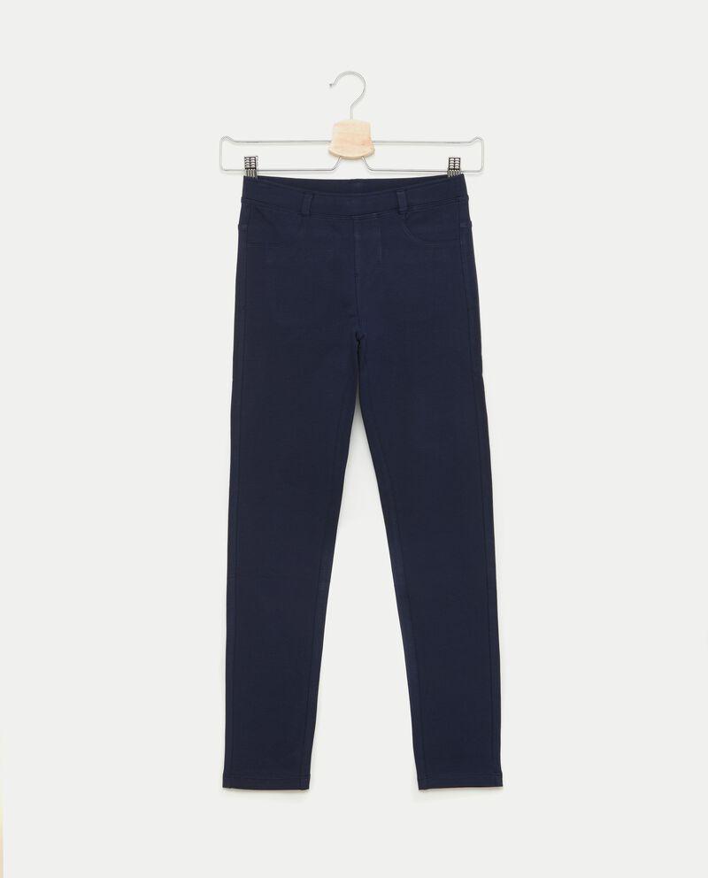 Pantaloni effetto jeans ragazza