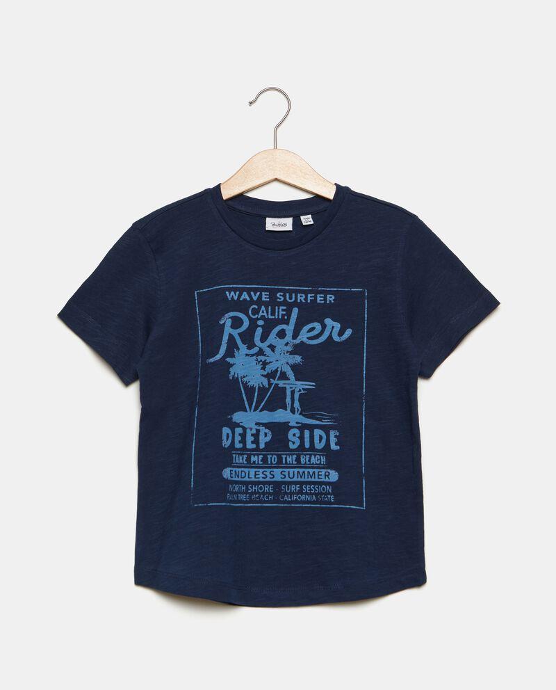 T-shirt in puro cotone con stampa bambino