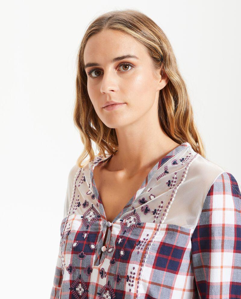 Camicia con ricami donna