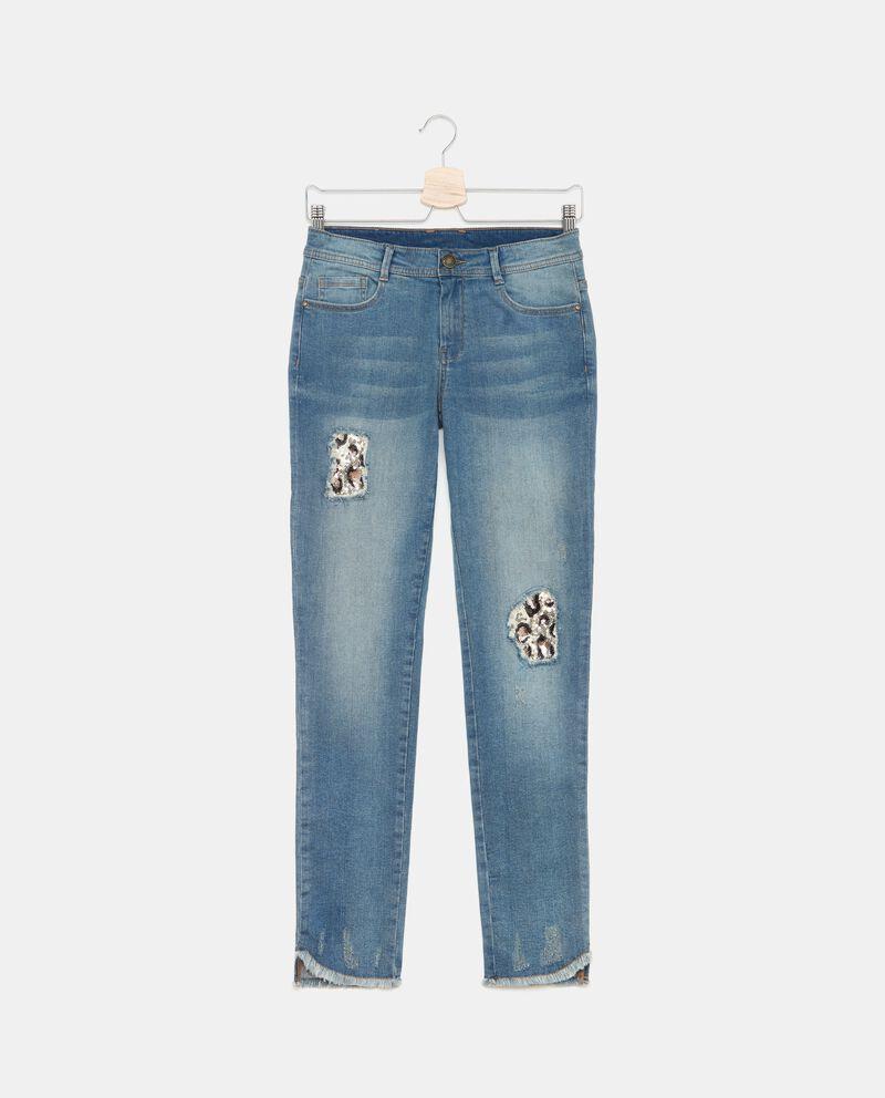 Jeans con toppe ragazza