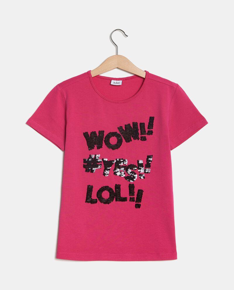 T-shirt a maniche corte con lettering ragazza