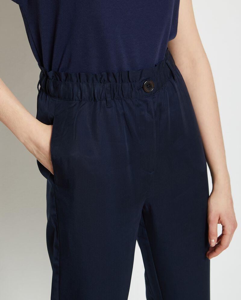 Pantaloni vita alta elasticizzata donna single tile 2