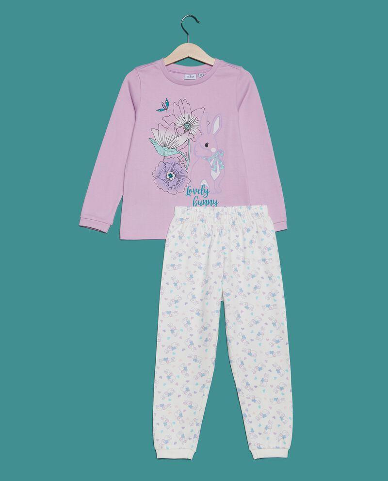 Set pigiama t-shirt fiori e pantaloni bambina