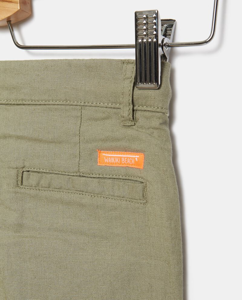 Shorts in misto lino con coulisse bambinodouble bordered 1