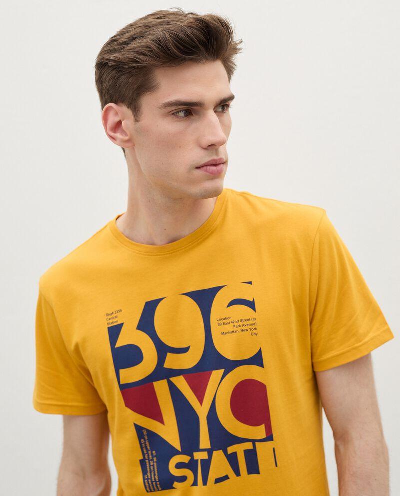 T-shirt con stampa di cotone organico uomodouble bordered 2
