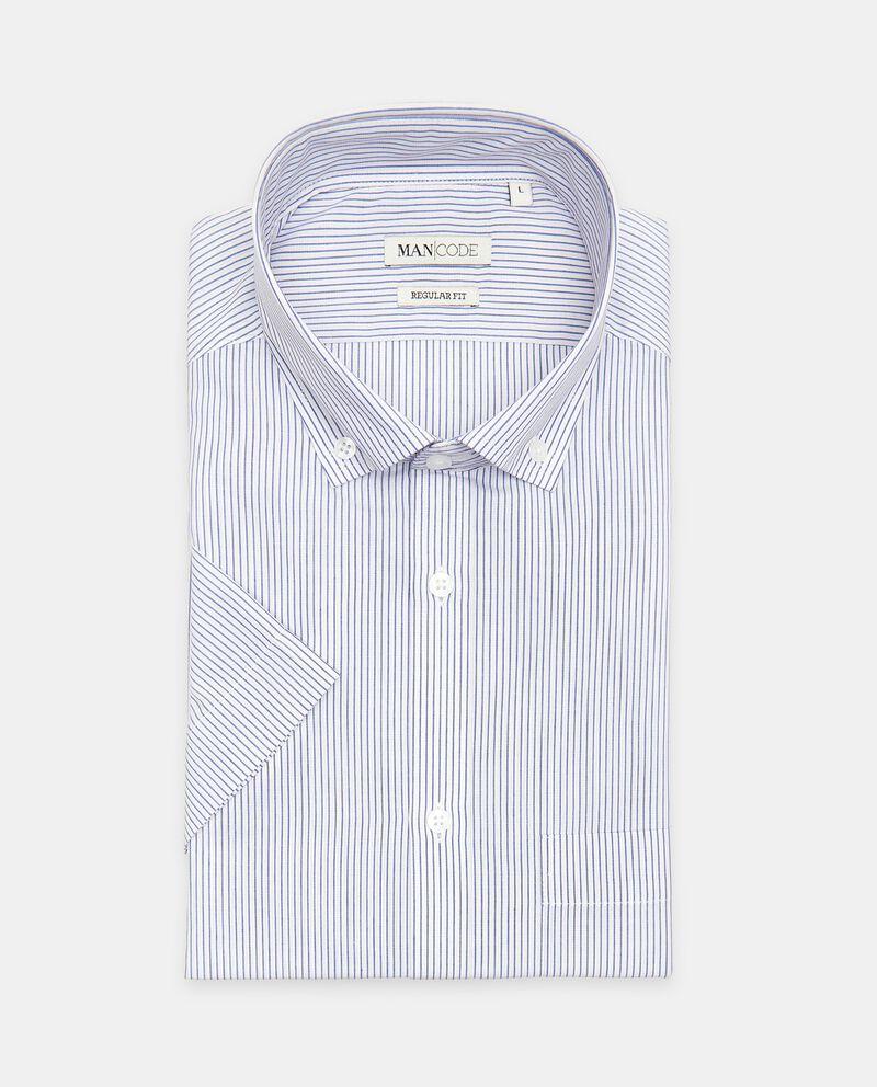Camicia regular fit a manica corta a righe cover