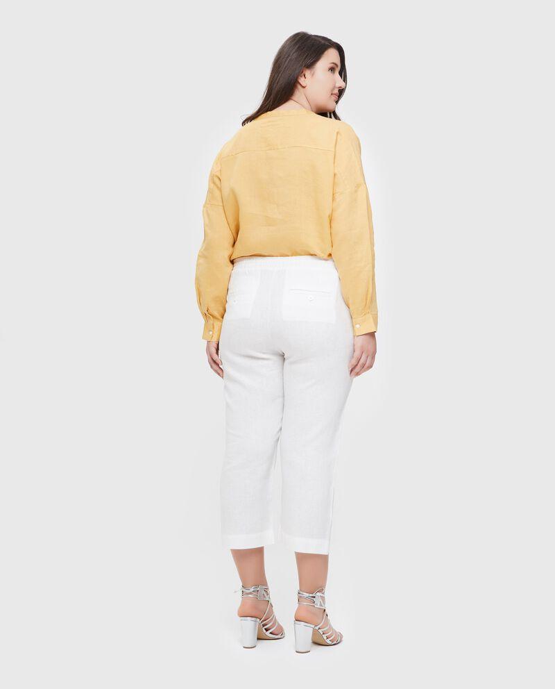 Pantaloni in puro lino donna Curvy