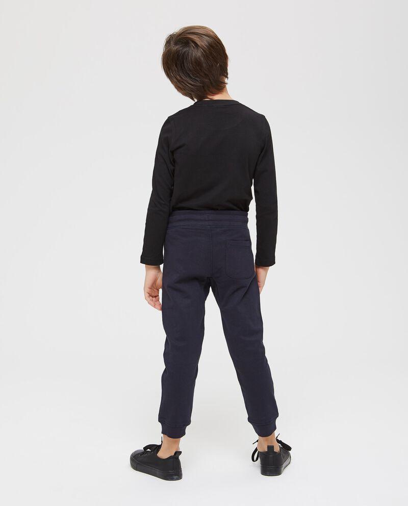 Pantaloni puro cotone stampa scheletro