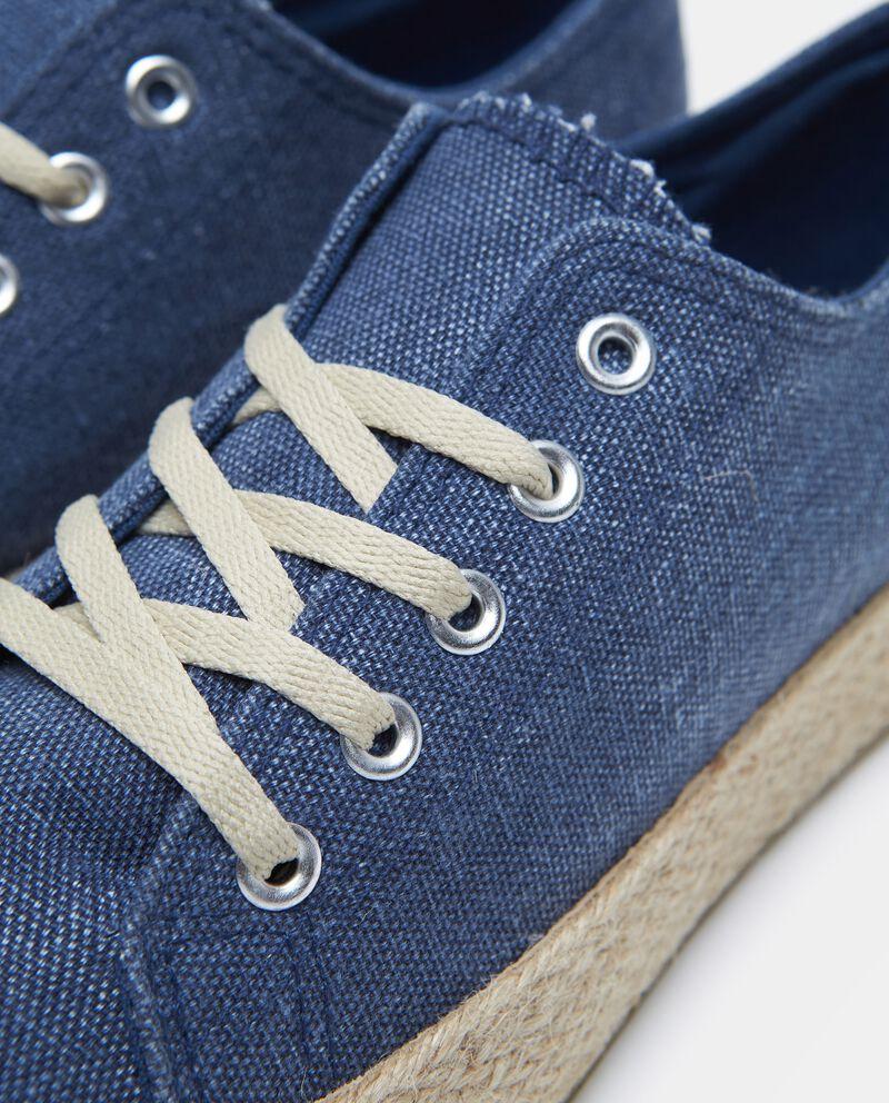Sneakers con suola in corda donna