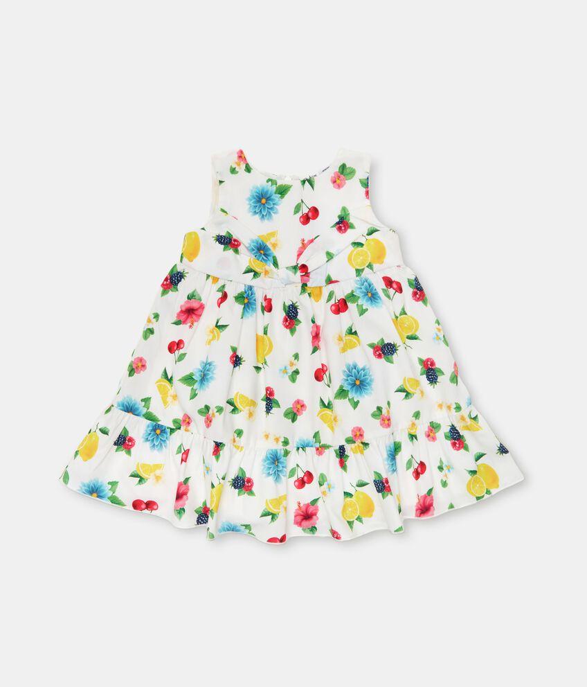 Vestito stampato in american crepe neonata