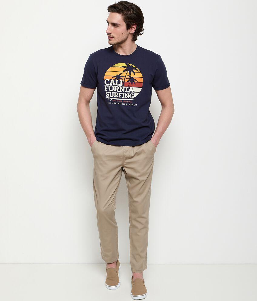 Pantaloni in puro cotone con coulisse uomo double 1