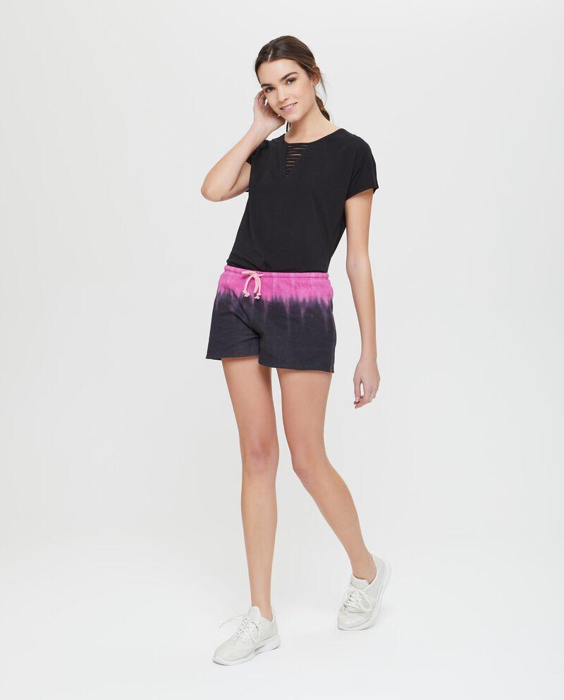 Shorts sportivi bicolore effetto sfumato