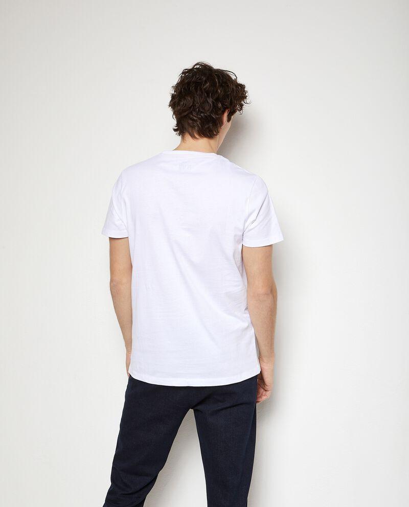 T-shirt stampata in puro cotone uomo