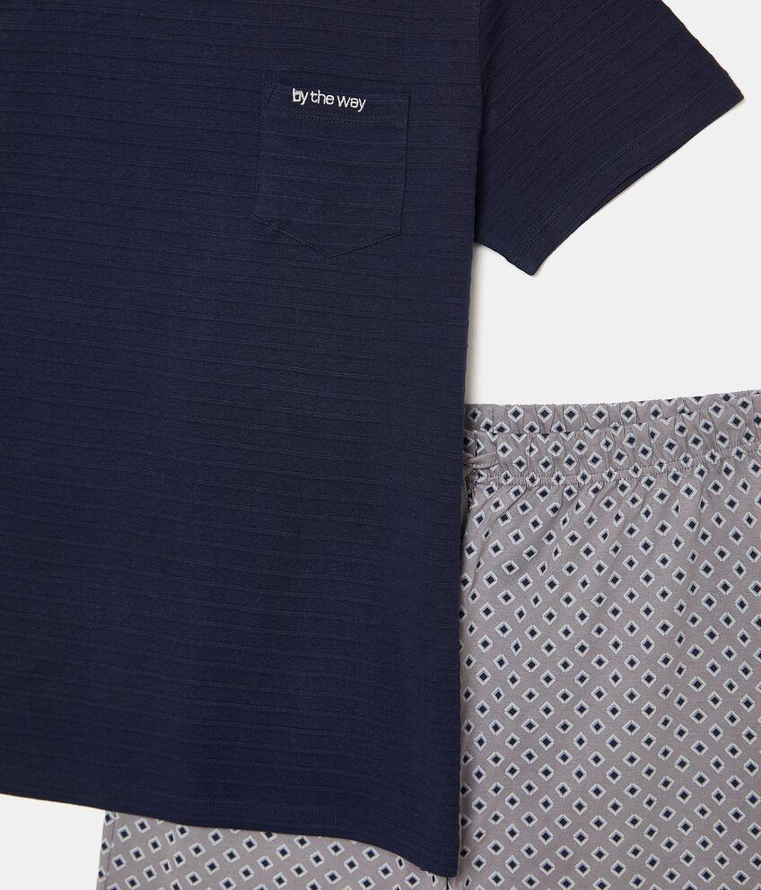Pigiama maglia e pantaloni in puro cotone
