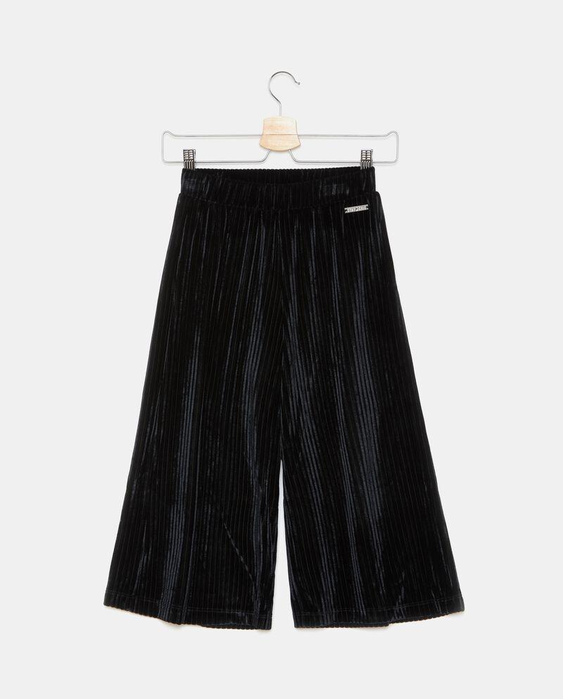 Pantaloni ampi con righine ragazza