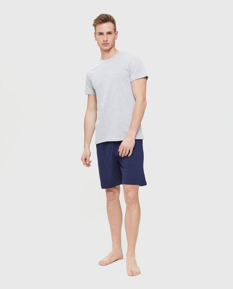 Shorts pigiama in puro cotone uomo